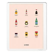 Image Republic Le Duo Packaging Poster 40 x 50 cm Wanddecoratie & -planken Multicolor Papier