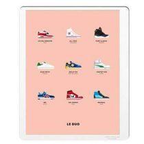 Image Republic Le Duo Sneakers Poster 40 x 50 cm Wanddecoratie & -planken Multicolor Papier