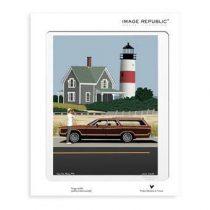 Image Republic Paolo Mariotti Cape Cod Poster 30 x 40 cm Wanddecoratie & -planken Multicolor Papier