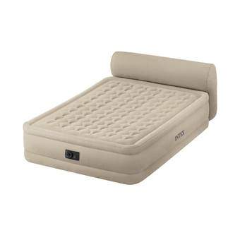 Intex Ultra Plush Headboard Luchtbed Queen Outdoor & kamperen Beige Polyester