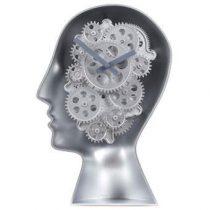 Invotis Brains Robot Klok 29 x 19 cm Klokken Zilver Kunststof