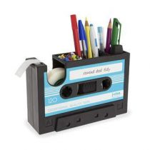 J-me Rewind Cassette Bureau Organizer Gadgets Blauw