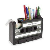 J-me Rewind Cassette Bureau Organizer Gadgets Zwart Kunststof