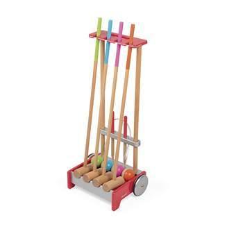 Janod Croquet Trolley Buitenspeelgoed Multicolor Hout