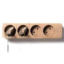 KITSCHCANMAKEYOURICH Boris Stecker Sleutelhouder Hal accessoires Bruin Hout