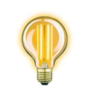 KS Verlichting Classic Gold Globe LED Lichtbron Verlichting Transparant Glas