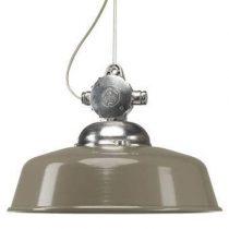KS Verlichting Detroit Retro Hanglamp Verlichting Taupe Aluminium
