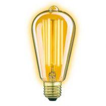 KS Verlichting LED E27 4W Rustiek 15 cm Classic Gold Lichtbron Verlichting Transparant Glas