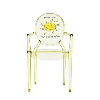 Kartell Lou Lou Ghost Special Edition Kinderstoel  Kinderstoelen Geel Kunststof