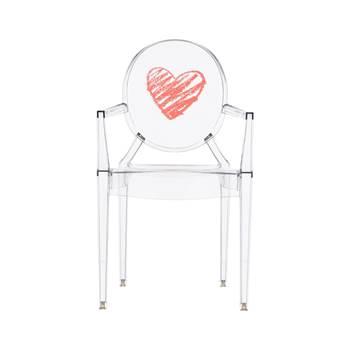 Kartell Lou Lou Ghost Special Edition Kinderstoel  Kinderstoelen Transparant Kunststof