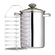 KitchenCraft Aspergepan 3 L Pannen Zilver RVS