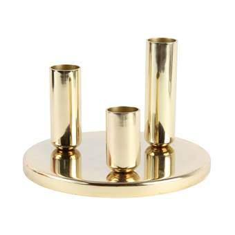 &Klevering Chandelier Round Kandelaar Woonaccessoires Goud Metaal