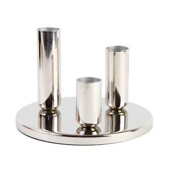 &Klevering Chandelier Round Kandelaar Woonaccessoires Zilver Metaal