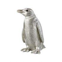 &Klevering Coinbank Penguin Spaarpot Woonaccessoires Zilver Polyresin