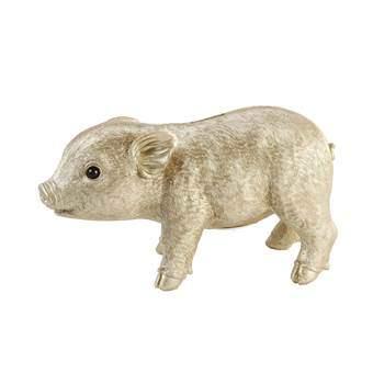&Klevering Coinbank Pig Spaarpot Woonaccessoires Goud Polyresin
