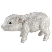 &Klevering Coinbank Pig Spaarpot Woonaccessoires Zilver Polyresin