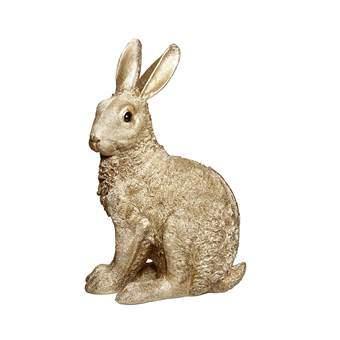 &Klevering Coinbank Rabbit Spaarpot Woonaccessoires Goud Polyresin