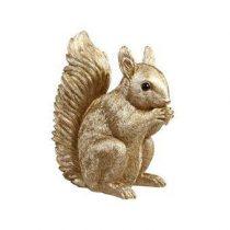 &Klevering Coinbank Squirrel Spaarpot Woonaccessoires Goud Polyresin