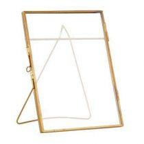 &Klevering Glazen Fotolijst 13 x 18 cm Woonaccessoires Goud Glas