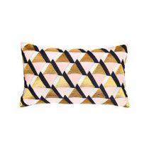 &Klevering Triangle Sierkussen 30 x 50 cm Woonaccessoires Multicolor Katoen