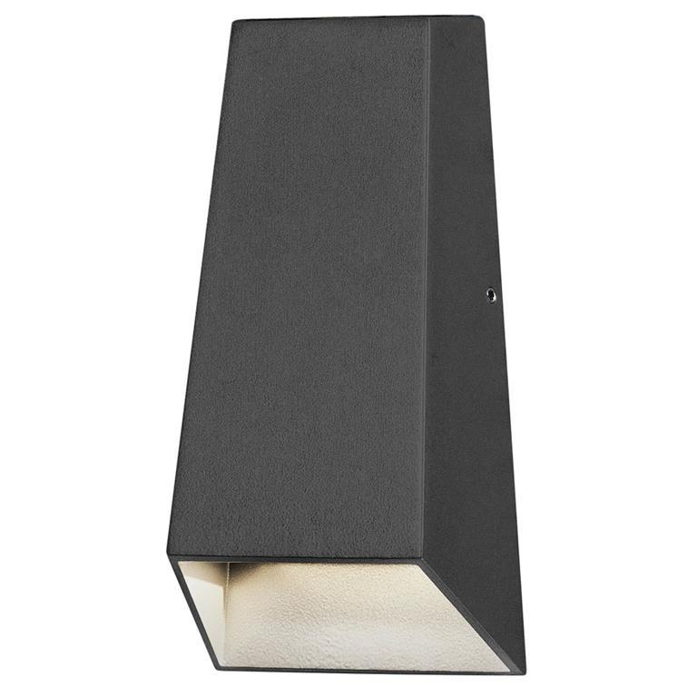 Konstsmide Imola LED Wandlamp Buitenverlichting Grijs Aluminium
