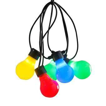 Konstsmide LED Partysnoer Opaal Multicolor 4.5m Buitenverlichting Multicolor Kunststof