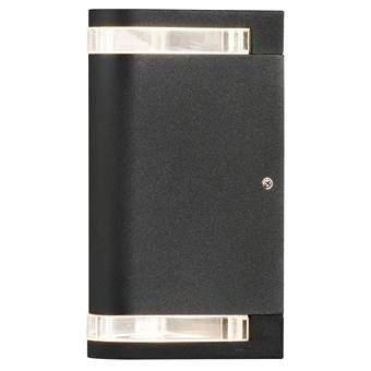Konstsmide Modena Flush Wandlamp Buitenverlichting Zwart Aluminium