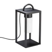 Kontsmide Bologna Lounge Power LED Lantaarn Buitenverlichting Zwart Glas