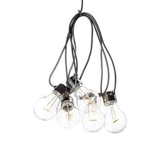 Kontsmide LED Partysnoer 5 lichtbronnen/2 m Buitenverlichting Wit Kunststof