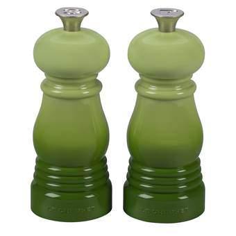 Le Creuset Mini Peper- en Zoutmolenset 11 cm Peper & zoutmolens Groen Kunststof