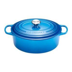 Le Creuset Ovale Braad/Stoofpan Ø 29 cm  Pannen Blauw Gietijzer