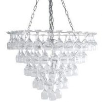 Leitmotiv Hanglamp Wijnglazen Verlichting Transparant Glas