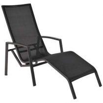 Life Outdoor Living Spring Loungestoel & Ligbed Tuinmeubels Zwart Aluminium