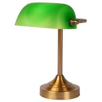 Lucide Banker Bureau- en Tafellamp Verlichting Groen Glas