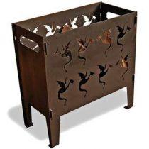 Maandag meubels Vuurkorf Draken Terrasverwarming Bruin Staal