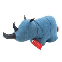 Monica Richards Sir George the Rhino Deurstopper Hal accessoires Blauw Textiel