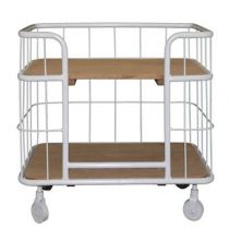 New Routz Bakery Trolley Opbergen Wit Metaal