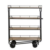 New Routz Industry Trolley Opbergen Zwart Hout