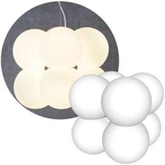 Next Molecular 8 Hanglamp Verlichting Wit Aluminium