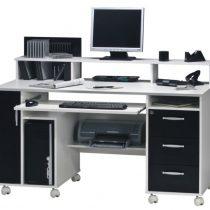 0.00 - Nicole Computer Bureau - Wit met zwart - Kantoortafels