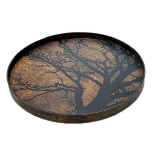 Notre Monde Black Tree 61 cm dienblad / tafel DienbladWoonkamer