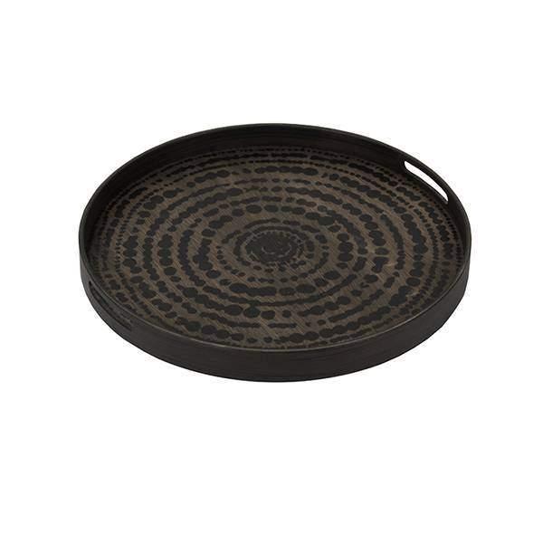 Notre Monde Black beads 48 cm dienblad / tafel DienbladWoonkamer