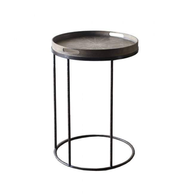 Notre Monde Black beads 48 cm dienblad / tafel Frame rond smallWoonkamer