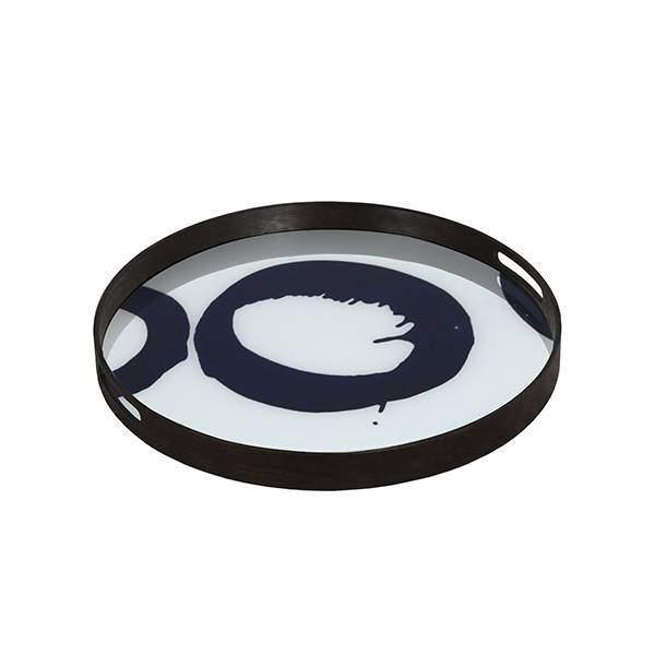Notre Monde Blue Halos 48 cm dienblad / tafel DienbladWoonkamer