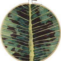 Olislagers Schilderij bananenblad medium Wanddecoratie Groen Hout