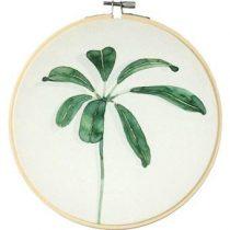 Olislagers Schilderij parapluplant blad medium Wanddecoratie Groen Hout