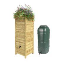 Outdoor Life Regenton met Ombouw - Set Tuinbewatering Hout Hout