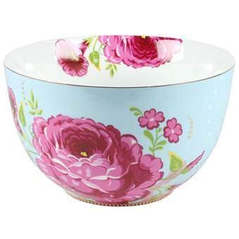 PiP Studio Big Flower Saladekom XL Ø 23 cm Servies Blauw Porselein