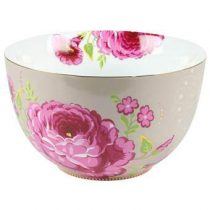 PiP Studio Big Flower Saladekom XL Ø 23 cm Servies Bruin Porselein
