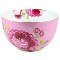 PiP Studio Big Flower Saladekom XL Ø 23 cm Servies Roze Porselein